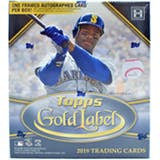 2019 Topps Gold Label Baseball 16-Box Case