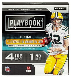2019 Panini Playbook Football Hobby 8-Box Case