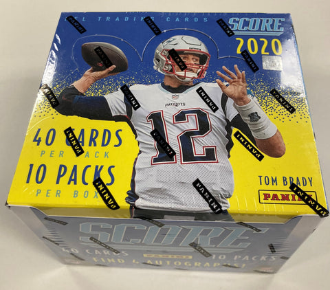 2020 Panini Score Football Hobby Case - 12 Box