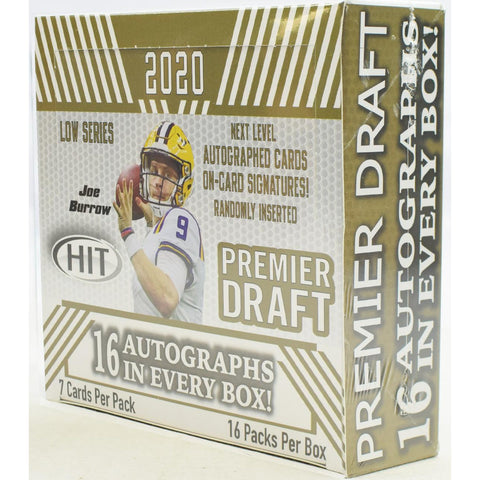 2020 SAGE HIT Football Premier Draft Low Series - Hobby Box
