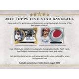 2020 Topps Five Star Baseball - 8 Box Case