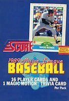 1989 Score Baseball Wax Box