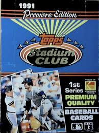 1991 Stadium Club Baseball Series 1 Box