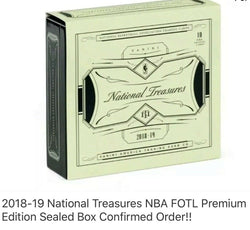 2018-19 Panini National Treasures Basketball 4-Box Case