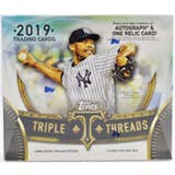 2019 Topps Triple Threads Baseball Hobby 18-Box Master Case