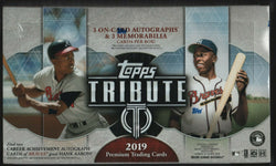 2019 Topps Tribute Baseball Hobby 6-Box Case