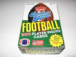1990 Fleer Football Box