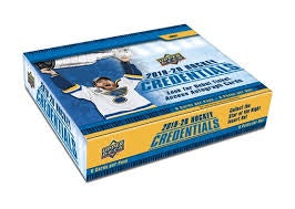 2019-20 Upper Deck Credentials Hockey 10-Box Inner Case