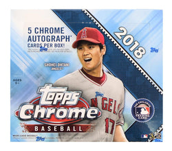 2018 Topps Chrome Baseball Jumbo Box