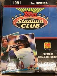 1991 Stadium Club Baseball Series 2 Box