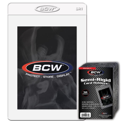 BCW SEMI-RIGID GRADED CARD HOLDERS PACK (50)