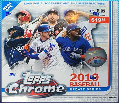 2019 Topps Chrome Update Baseball Holiday Mega Box
