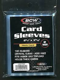 BCW EXTRA THICK CARD SLEEVES PACK (100)