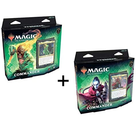 Magic The Gathering Zendikar Rising Commander Deck 2 Deck Set Land's Wrath & Sneak Attack