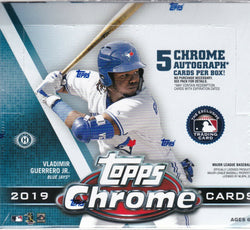 2019 Topps Chrome Baseball Jumbo Box