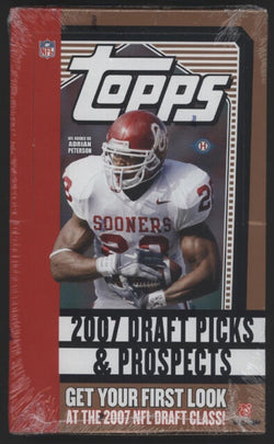 2007 Topps Draft Picks and Prospects Football Box