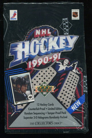 1990-91 Upper Deck Low Series Hockey Box