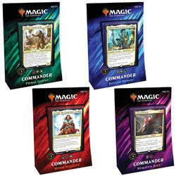 Magic The Gathering Commander 2019 Four Deck Set