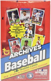 2019 Topps Archives Baseball Hobby 10-Box Case