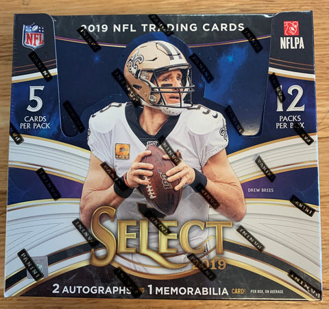2019 Panini Select Football Box
