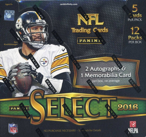 2016 Panini Select Football Box