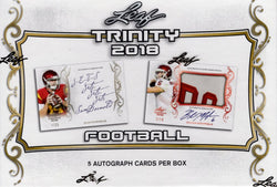 2018 Leaf Trinity Football Box