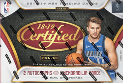 2018-19 Panini Certified Basketball Box