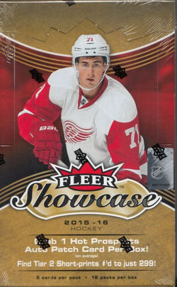2015-16 Upper Deck Fleer Showcase Hockey Box