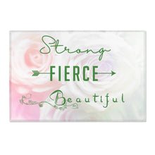 Strong-Fierce-Beautiful-White Roses - Area Rugs - Various Sizes