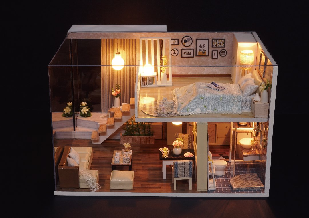 Diy Miniature Doll House One Modern Day Happygenies Com