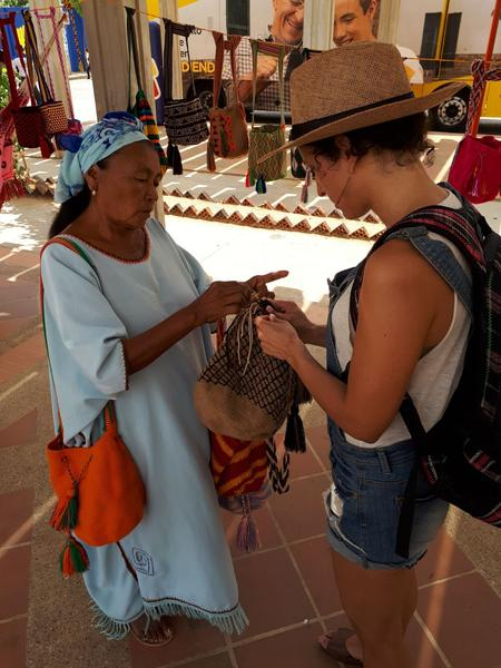 Fair trade- direct trade with Wayuu artisans in La Guajira, Colombia