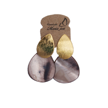 Nacar Handmade Earrings - Brass Coated