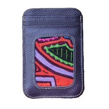 Leather Cardholder with Mola Decoration