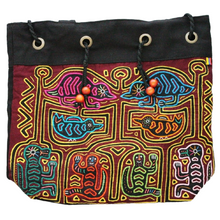 Drill Pouch Mola Decorated