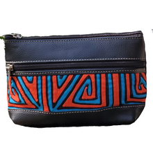 Leather Make Up Purse with Mola