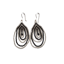 Beaded, Sterling Silver Emberá Earrings