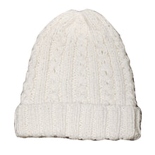 Natural white alpaca and wool blend handwoven hat