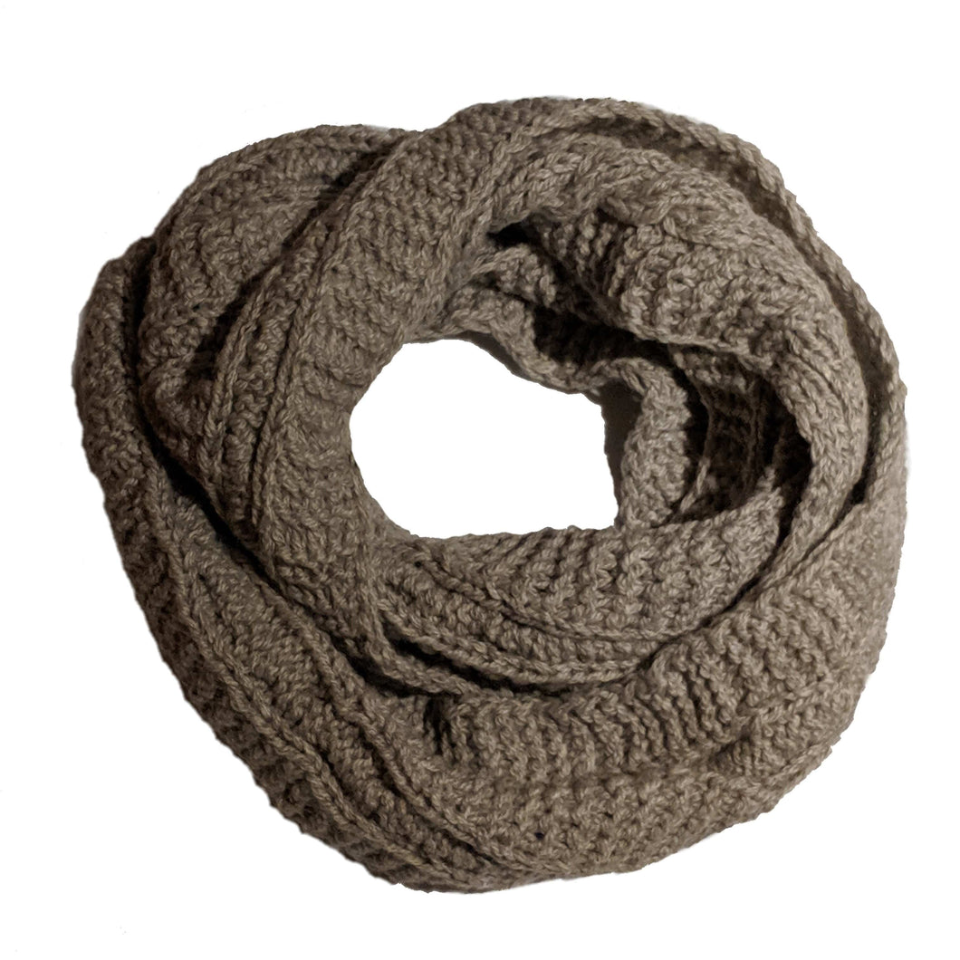Alpaca & Wool Blend Knitted Loop Scarves