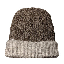 Natural Gray alpaca and wool blend handwoven hat