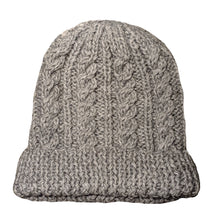 Natural  Light Gray Alpaca and wool blend handwoven hat