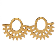 Pre- Columbian Design Gold Coated Studs