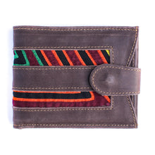 Unisex Leather Wallet Mola Decorated