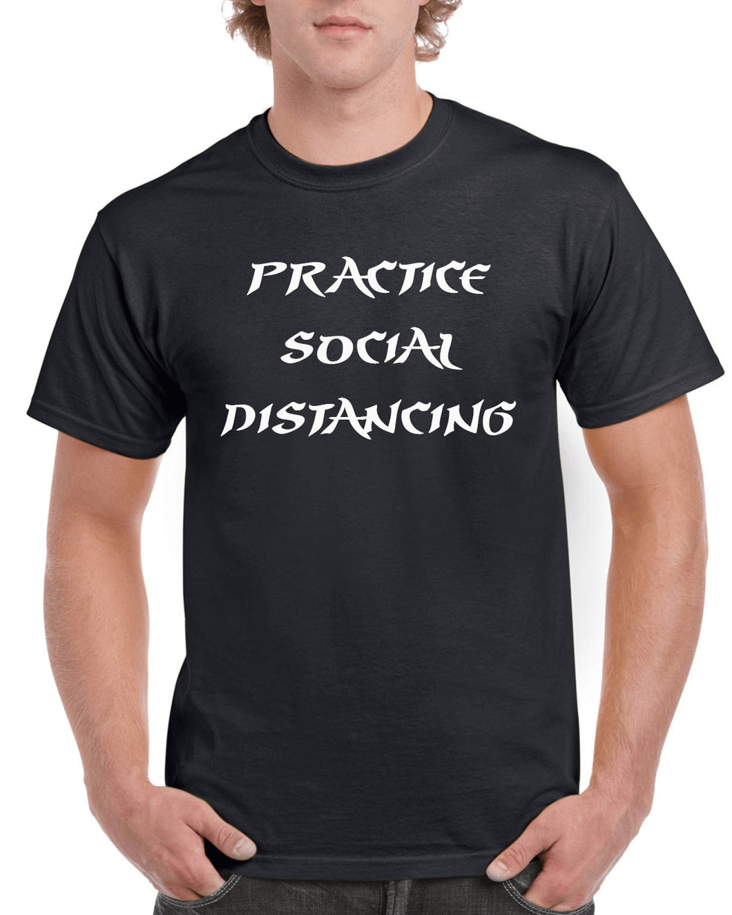 Practice social distancing-funny t-shirt-social distancing t-shirt- Personalized_T-shirts - Galaxie Rouge / Red Galaxy