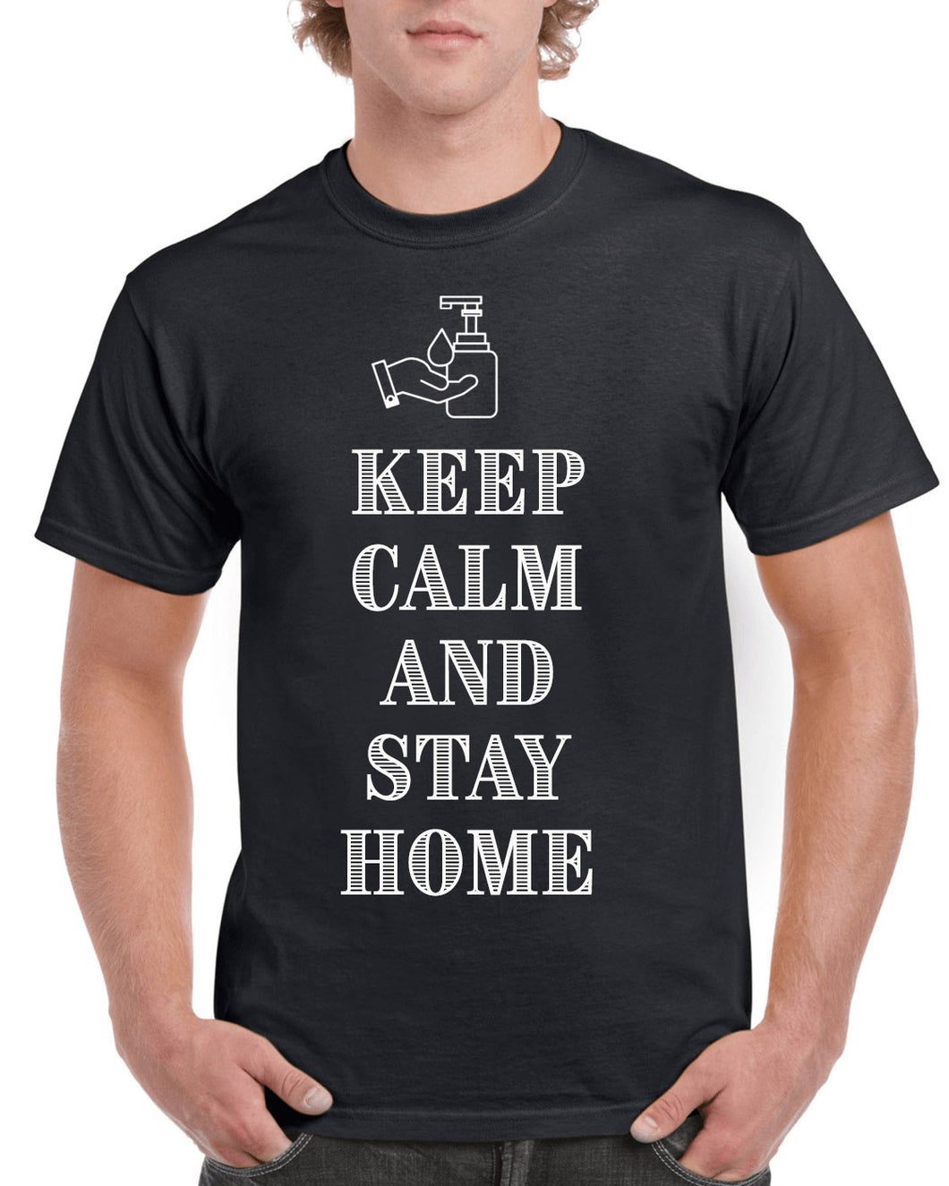 keep calm and stay home- keep calm t-shirt-stay home t-shirt-Personalized_T-shirts - Galaxie Rouge / Red Galaxy