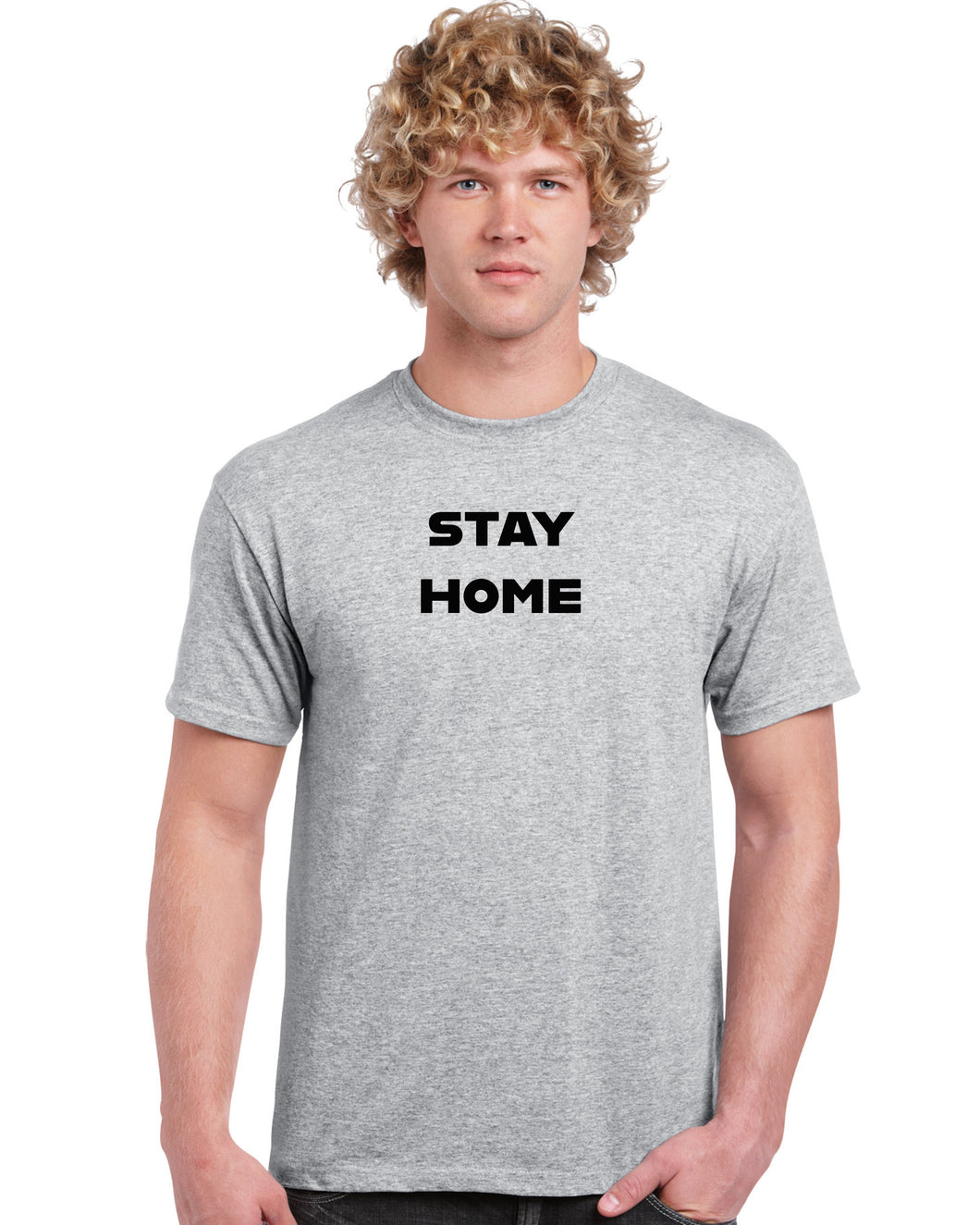 stay home, stay safe, cotton t-shirt, Personalized_T-shirts - Galaxie Rouge / Red Galaxy