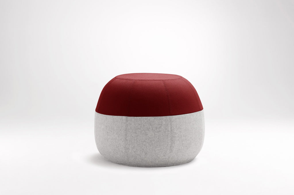 Puku Ottoman Burgundy & Light Grey