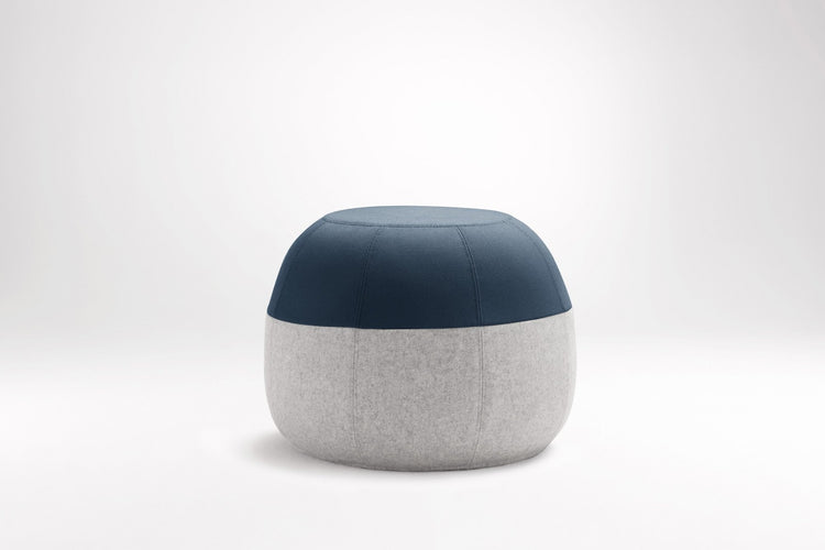 Puku Ottoman Teal & Light Grey