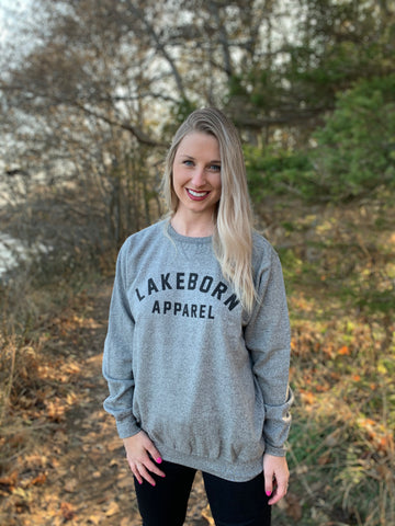 Lakeborn Varsity Crewneck - Unisex - Graphite Heathered