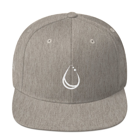 Lakeborn Drop Snapback Hat - Unisex - Grey