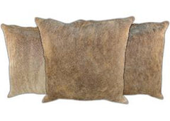 Taupe Cowhide Pillows